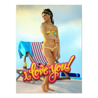 I Love You Keira 6.5x8.75 Paper Invitation Card