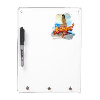 I Love You Keira Dry Erase Board