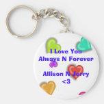 I Love You Key Chains