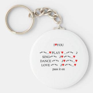 I Love You Keychains