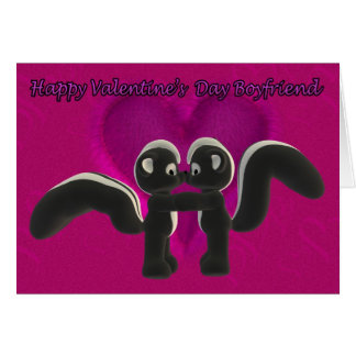 I love you, kissing skunks cute, Valentine's Day C Card