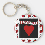 I Love You Ladybugs Key Chains