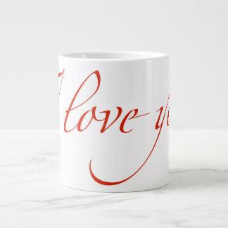 I love you large coffee mug