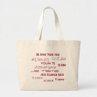 I love you! large tote bag