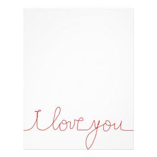 I love you letterhead