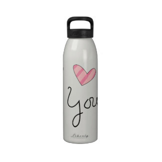 I Love You Liberty Water Bottle