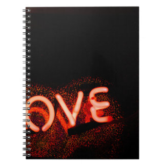 I love you light neon sign AT night photograph ROM Notebook