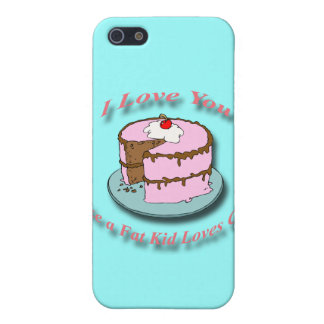 I Love You Like a Fat Kid Loves Cake red iPhone SE/5/5s Case