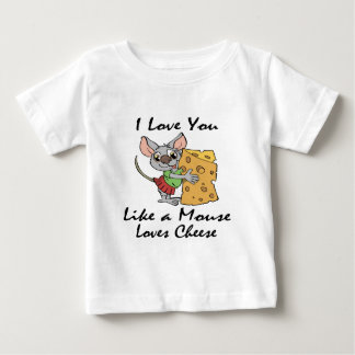 I Love You Like A Mouse Loves Cheese black T Shirts
