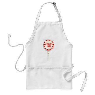 I LOVE YOU LOLLY ADULT APRON