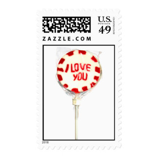 I LOVE YOU LOLLY POSTAGE STAMP