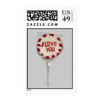 """I LOVE YOU"" Lolly Stamp"
