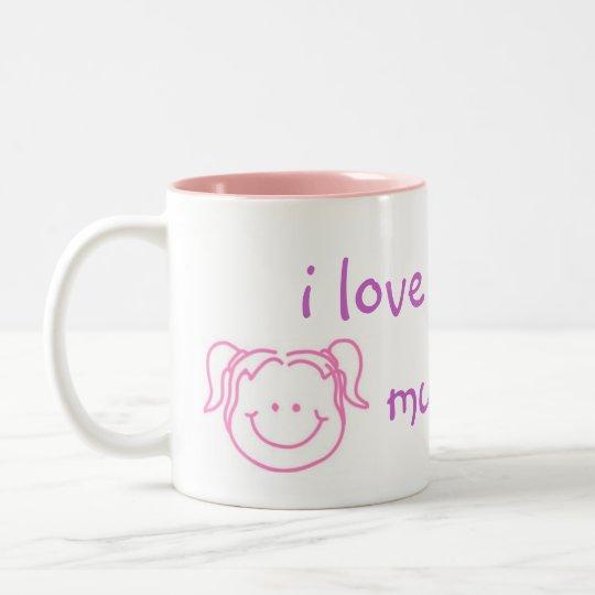 i love you lots mummy Two-Tone coffee mug