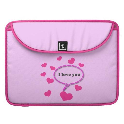 I Love You MacBook Pro Sleeves