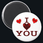 """I Love You Magnet<br><div class=""""desc"""">Sending you hugs and kisses from my heart: I LOVE YOU</div>"""