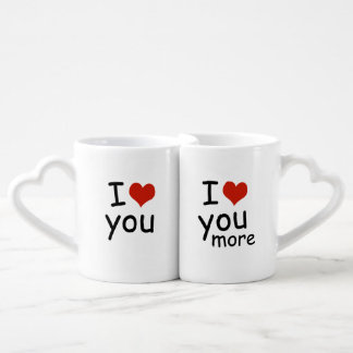 I love you male female coffee mug set