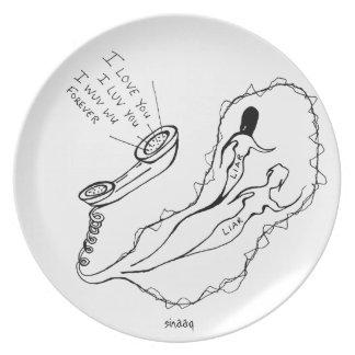 I Love You... Melamine Plate