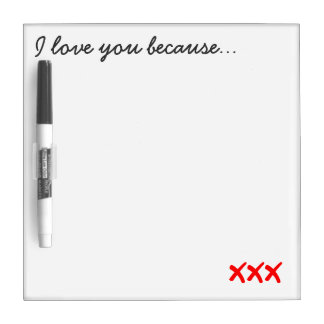 I Love You Message Board Dry Erase Boards