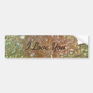 I Love You Metallic Sugar Crystals Bumper Sticker