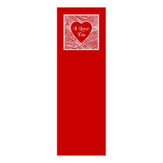I Love You Mini Bookmarks - Double-Sided Mini Business Cards (Pack Of 20)