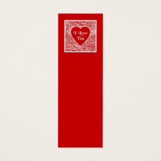 I Love You Mini Bookmarks - Mini Business Card