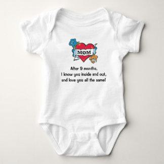 I love you mom! baby bodysuit