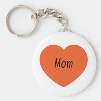 I Love You, Mom Basic Round Button Keychain