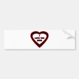 I Love You MOM Black Heart The MUSEUM Zazzle Gifts Bumper Sticker