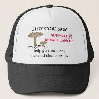 I LOVE YOU MOM, BREAST Cancer Ball Cap