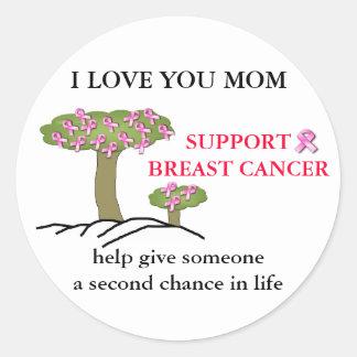 I LOVE YOU MOM, Breast Cancer Sticker