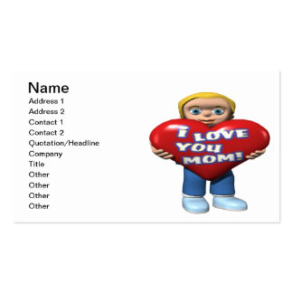 I Love You Mom Double-Sided Standard Business Cards (Pack Of 100)