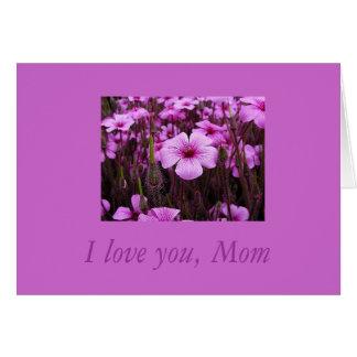 I Love You, Mom Card