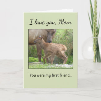 I Love You, Mom... Card