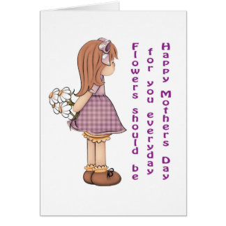 I love you mom stationery note card