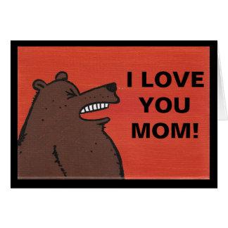 I love you mom card note card