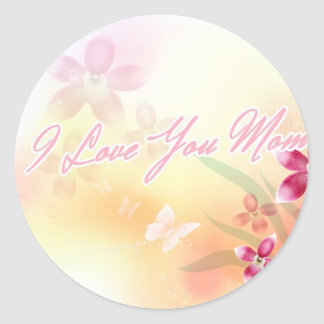 I Love You Mom Classic Round Sticker