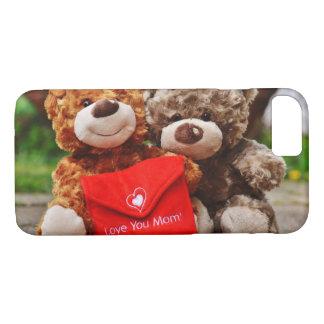 I LOVE YOU MOM - Cute & Cuddly Teddy Bears iPhone 8/7 Case