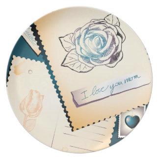 I love you mom, decorative plate