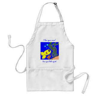 I love you, mom! From your little squirt! Adult Apron