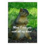 I love you Mom/ Happy Mother's Day_Card Greeting Card