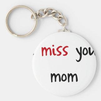 I Love You, Mom Keychain
