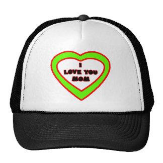 I Love You MOM Light Green  Heart The MUSEUM Zazzl Trucker Hat
