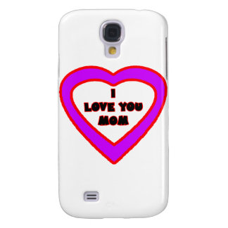 I Love You MOM Light Purple Heart The MUSEUM Zazzl Samsung Galaxy S4 Cover