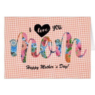 I love you Mom | Mother´s day Card