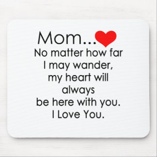 i love you mom mouse pad