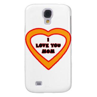 I Love You MOM Orange  Heart The MUSEUM Zazzle Gif Samsung S4 Case