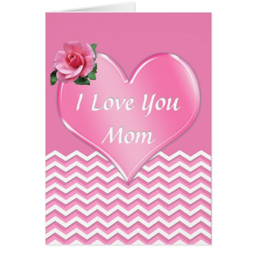 I Love You Mom Personalized Mother's Day Card