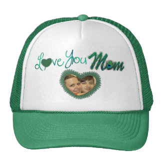 I love you mom photo hats for mother