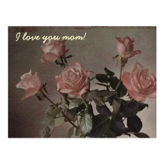 I love you mom! postcard