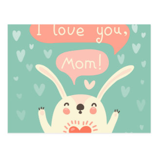 I LOVE YOU MOM POSTCARD
